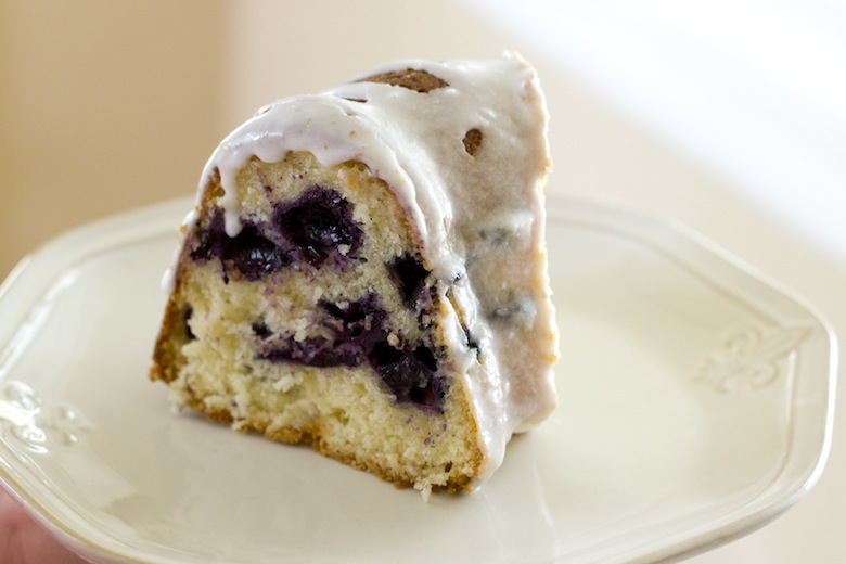 Gluten Free Blueberry Buttermilk Bundt Cake